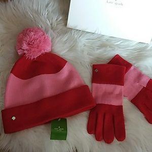 kate spade Accessories - Red & Pink Kate Spade Hat
